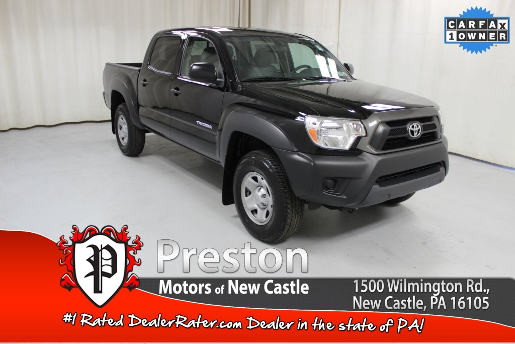 certified pre owned 2013 toyota tacoma base 4d double cab in new castle t16423a preston. Black Bedroom Furniture Sets. Home Design Ideas