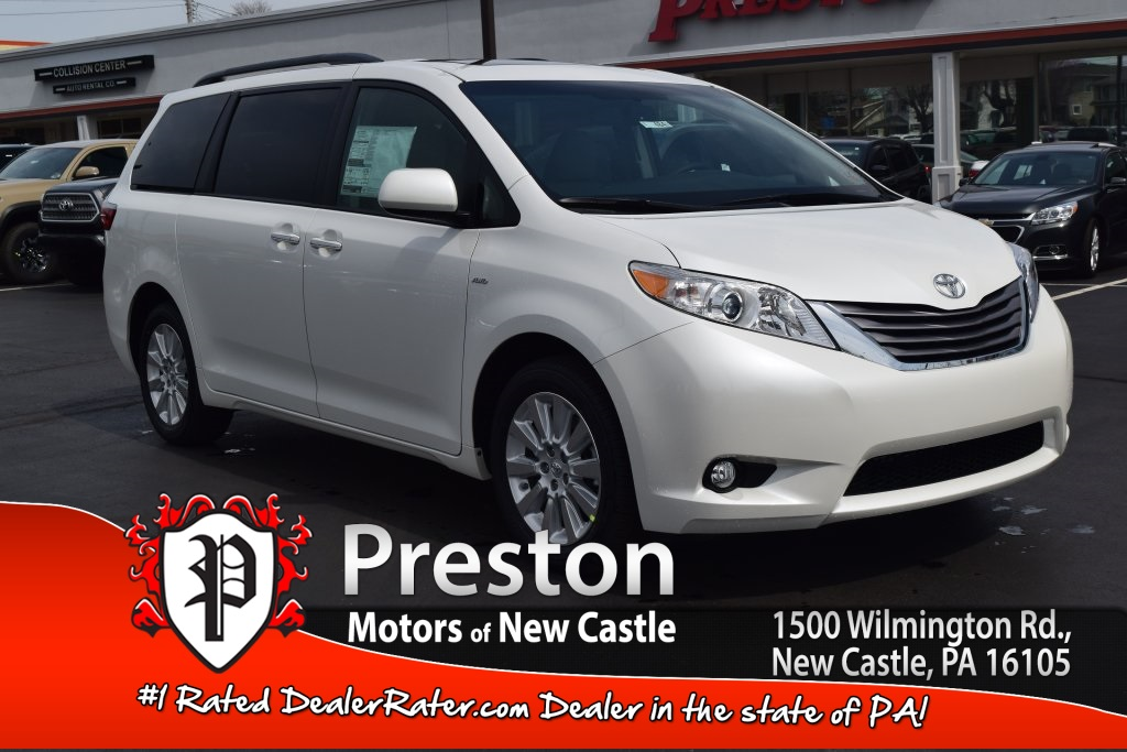 new 2016 toyota sienna xle premium 4d passenger van in new castle t16484 preston toyota of. Black Bedroom Furniture Sets. Home Design Ideas