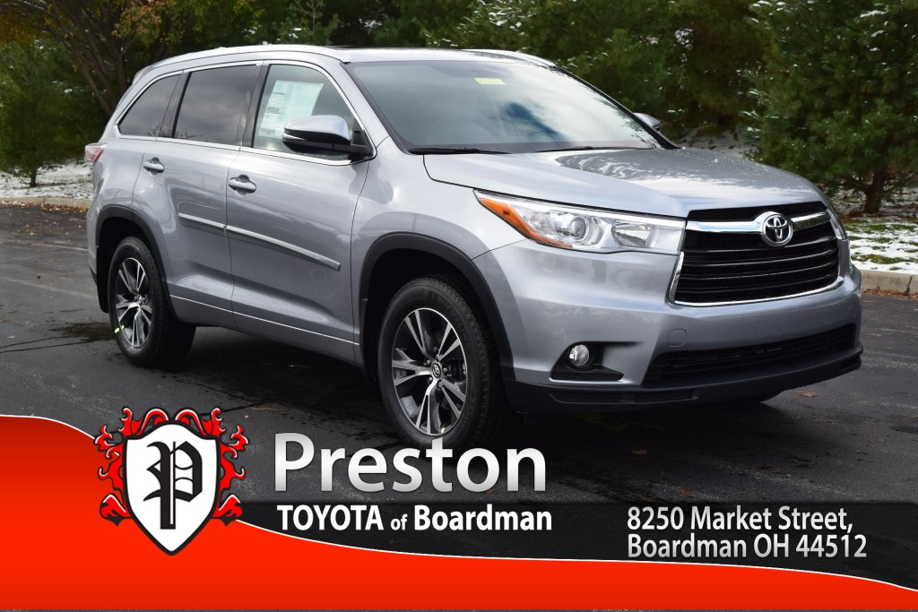new 2016 toyota highlander xle v6 4d sport utility in new castle t161025 preston toyota of. Black Bedroom Furniture Sets. Home Design Ideas